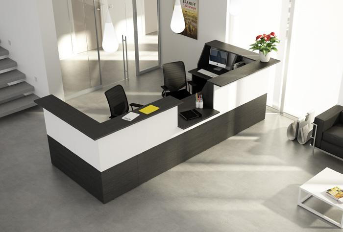Bancone ad angolo per reception for Bancone reception ufficio