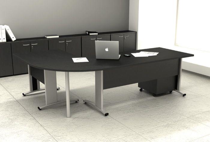 Scrivanie ufficio con fianchi pannellati for Misure scrivania