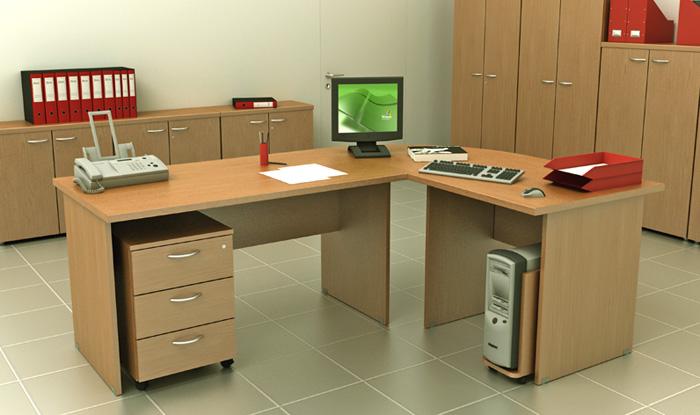 Scrivanie con fianchi in legno for Scrivanie operative ufficio