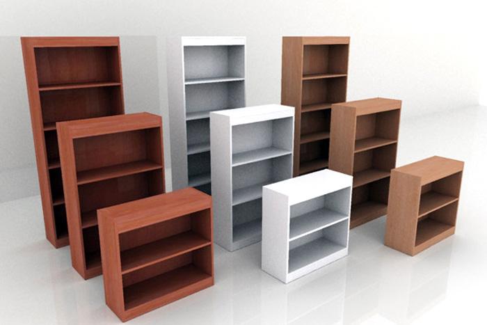 Libreria Ufficio Prezzi : Libreria alta a giorno 4 ripiani