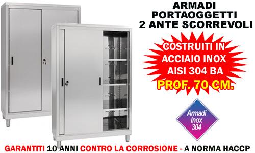 Armadio Inox Ante Scorrevoli.Armadio Ante Scorrevoli Serie 70 Aisi 304