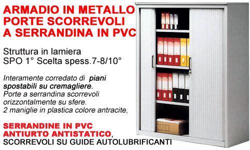 Armadio Con Ante A Serrandina.Armadi Ufficio Porte A Serrandina P 45
