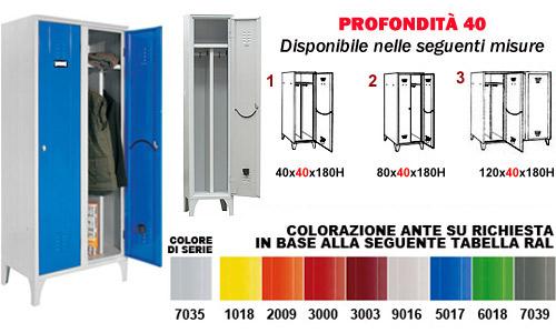 - Armadietto Sporco Pulito - serie 40