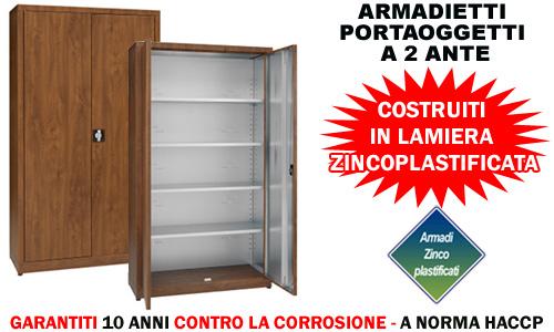 Armadio zincoplastificato 2 ante - Portaoggetti armadio ...