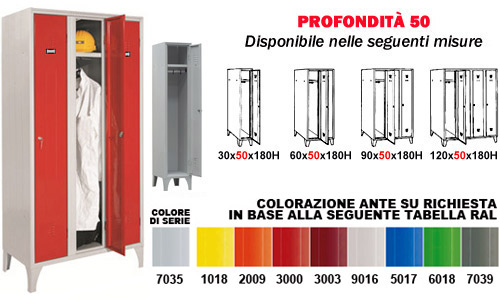 Armadio Spogliatoio - Vano 30 cm