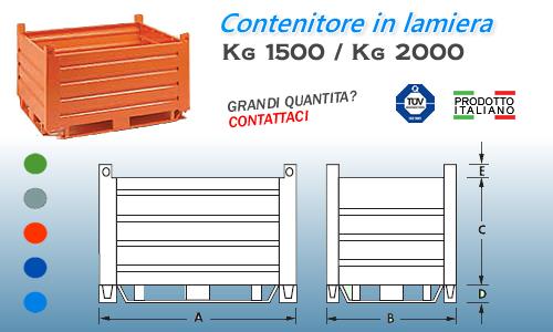 Contenitori Industriali Ferro.Contenitore Ferro Da 1500x1000 Mm