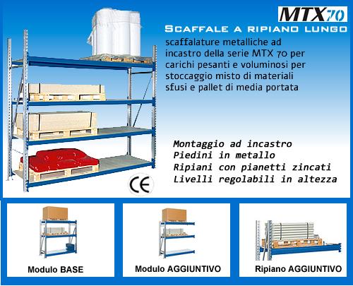 Scaffalature Metalliche Industriali Prezzi.Scaffalatura A Ripiano Lungo Cm 180