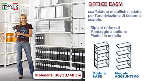 Scaffale archiviazione ufficio a bullone for Scaffali per ufficio acciaio