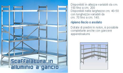 Scaffali Componibili Alluminio.Scaffale In Alluminio 1500