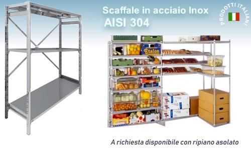 Scaffalature In Acciaio Inox.Scaffale Inox 18 10 Serie 2000