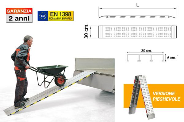 rampe in alluminio pieghevoli