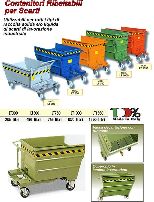 contenitori ribaltabili per scarti lavorazione
