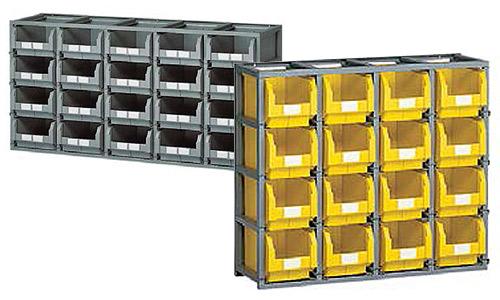 Scaffali porta contenitori
